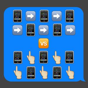 Свайп против тэпа: Каким будет будущее мобильных интерфейсов