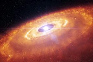Фото: формирование планет вокруг звезды HL Tauri