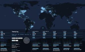Дизайнер создал интерактивную карту Twitter-активности