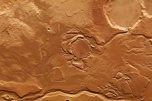 Mars Express снял следы таяния льда на Марсе