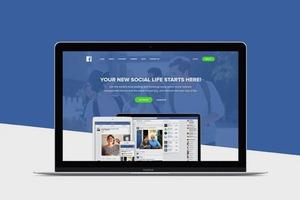 Главную Facebook представили лендингом стартапа 2015 года