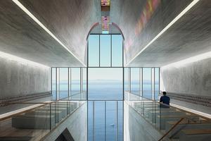 Архитектура дня: концепт церкви-креста на отвесной скале