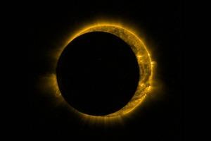 Частичное солнечное затмение сняли со спутника
