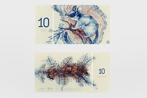 Концепт дня: банкноты несуществующих венгерских евро