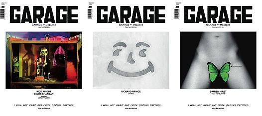 Три облика современной культуры на обложке пилотного номера GARAGE. Изображение № 2.