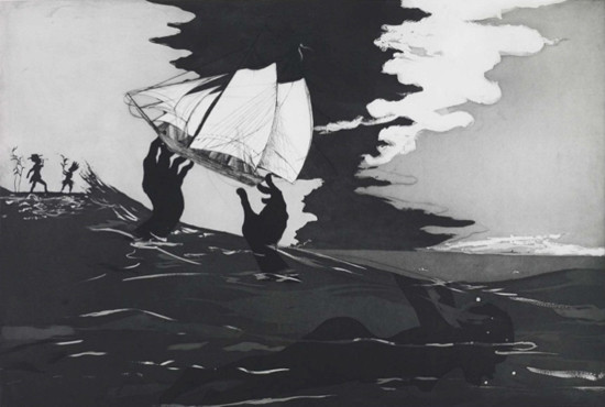 Kara Walker. An Unpeopled Land in Uncharted Waters, 2010