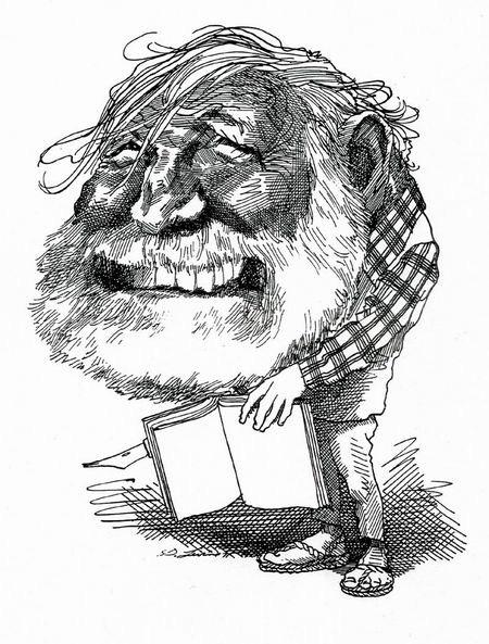 Карикатуры на писателей. Изображение № 15.