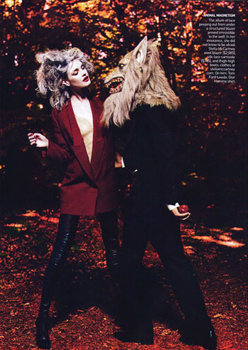 Into the Woods. Natalia Vodyanova. Vogue Sept-09. Изображение № 10.