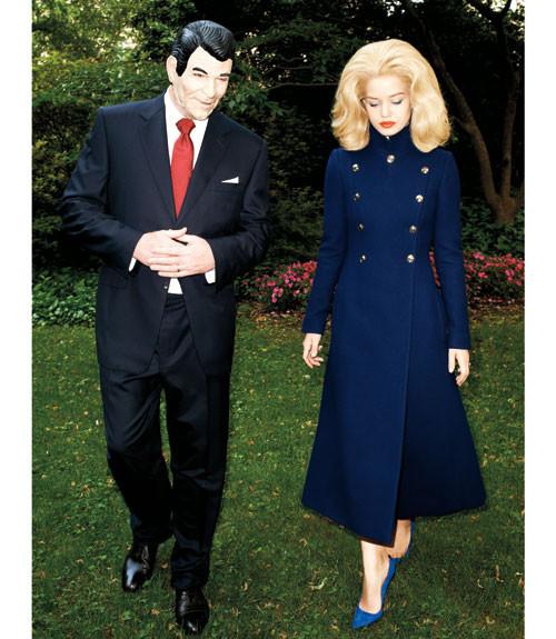 Терри Ричардсон снял Джорджию Мэй Джаггер в образе Маргарет Тэтчер. Изображение № 10.