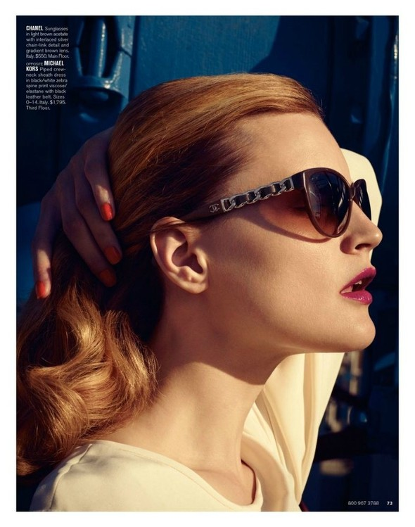 Съёмка: Жиневье ван Синус для Bergdorf Goodman. Изображение № 15.