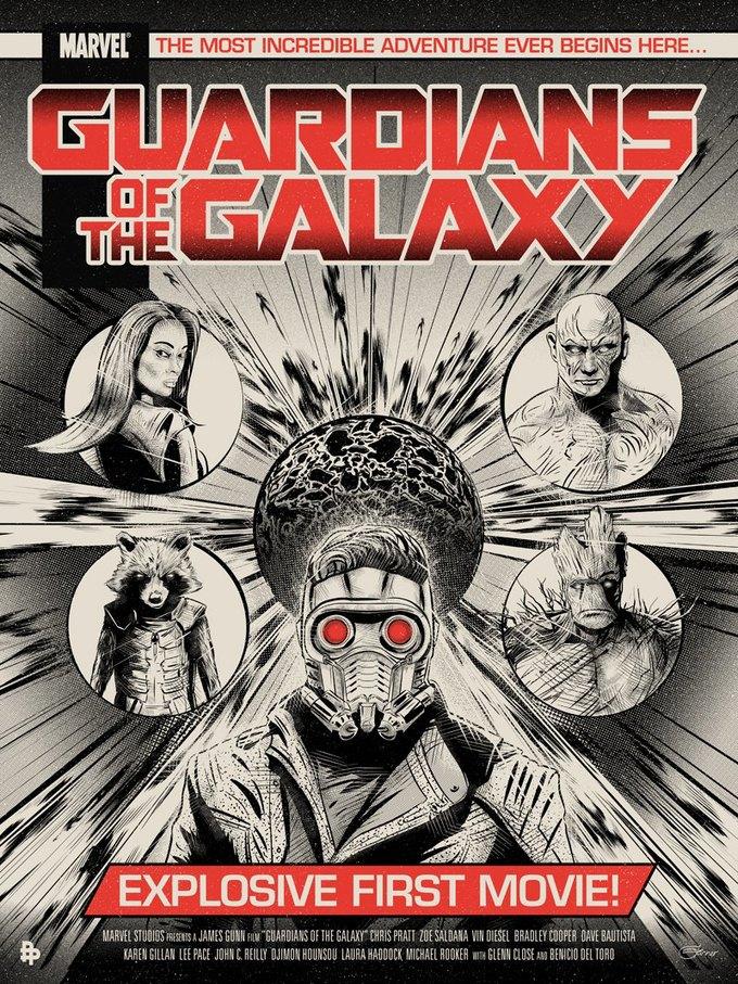 Опубликованы 44 фанатских постера к «Стражам Галактики». Изображение № 21.
