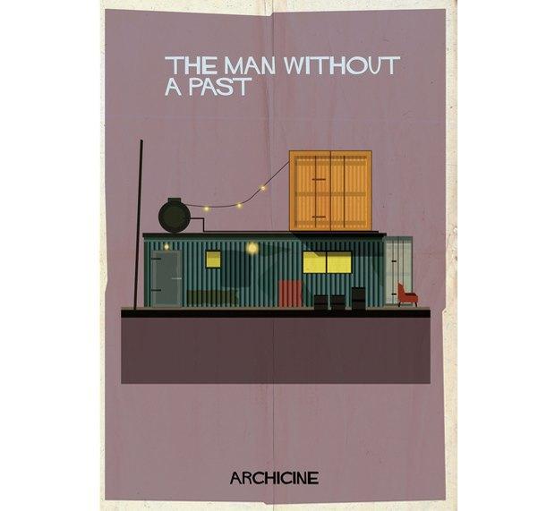 Художник нарисовал архитектурные постеры классических фильмов. Изображение № 5.