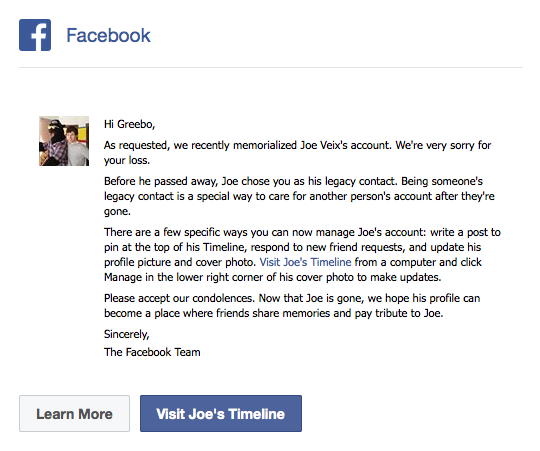 Сообщение Facebook о наследовании. Изображение № 7.