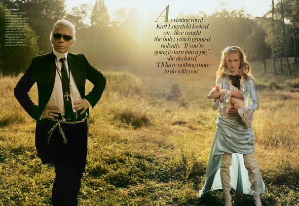 Архивная съемка: Наталья Водянова для американского Vogue 2003. Изображение № 8.
