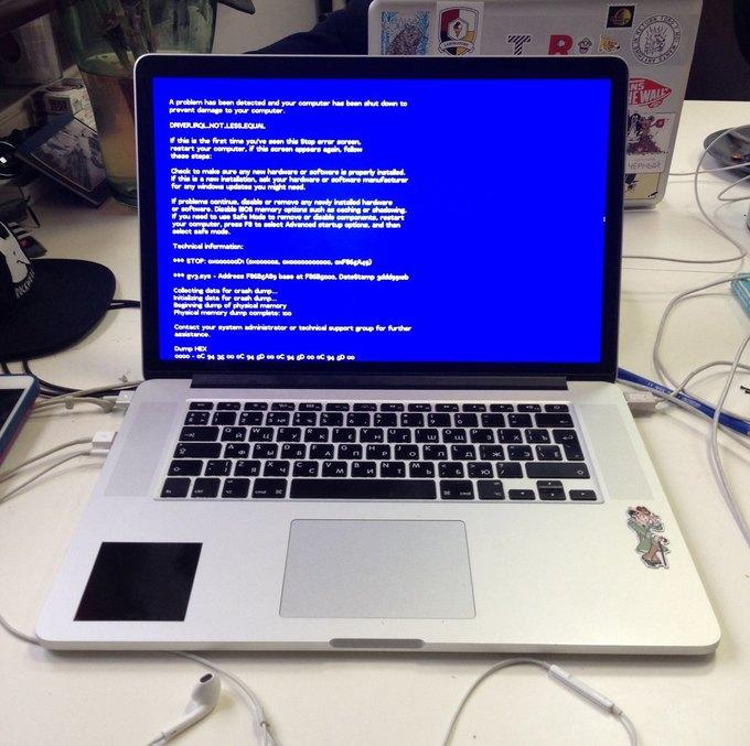 Синий экран смерти на Mac? — Неубедительно.. Изображение № 1.