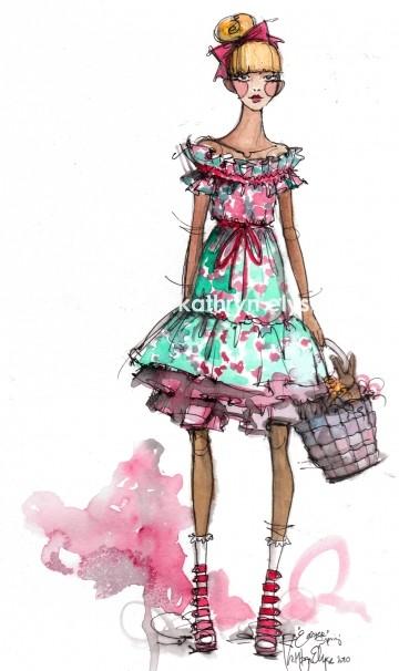 Kathryn Elyse. Fashion Illustrations. Изображение № 8.