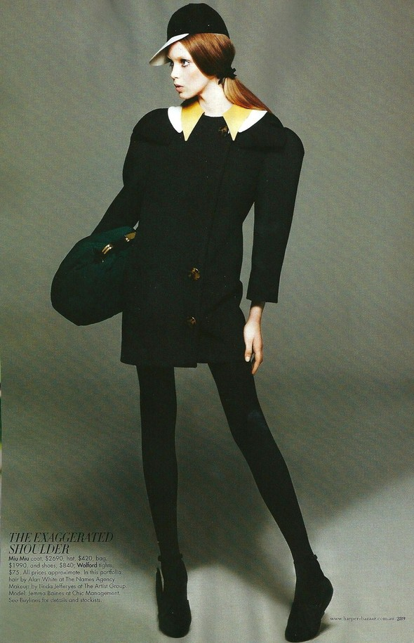 Съёмка: Джемма Бейнес для Harper's Bazaar. Изображение № 14.