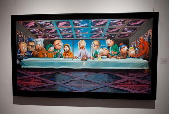Выставка Рона Инглиша в честь South Park. Изображение № 2.