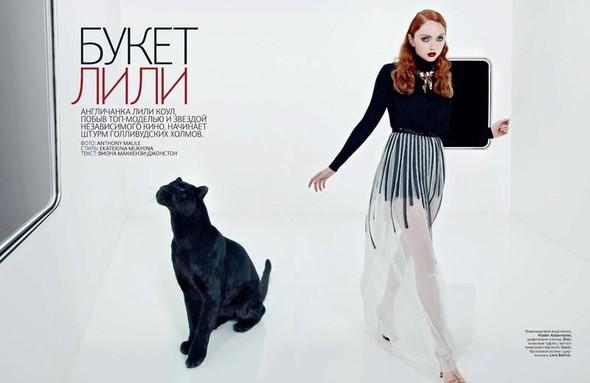 Съёмка: Лили Коул для российского Vogue. Изображение № 1.