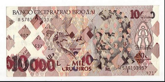 Картины и коллажи из денег Родриго Торреса. Изображение № 12.