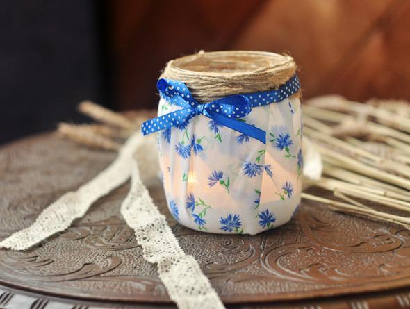 Симпатичные баночки-вазочки-подсвечники.. Изображение № 7.