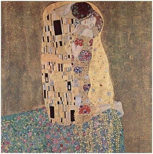 Густав Климт «Поцелуй» 1907-1908 гг.. Изображение № 5.