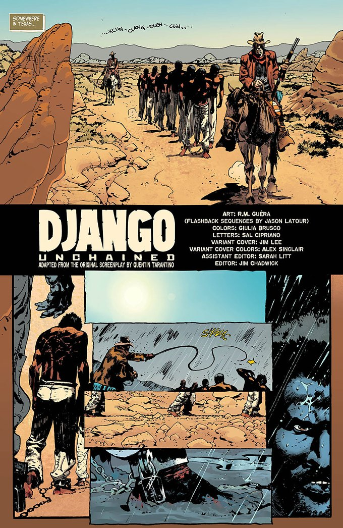 Появился комикс по «Джанго освобожденному». Изображение № 1.