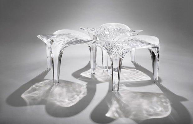 Заха Хадид создала новые предметы мебели для серии Liquid Glacial. Изображение № 1.
