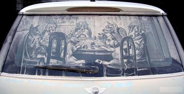 Рисунки напыльных стёклах. Изображение № 14.