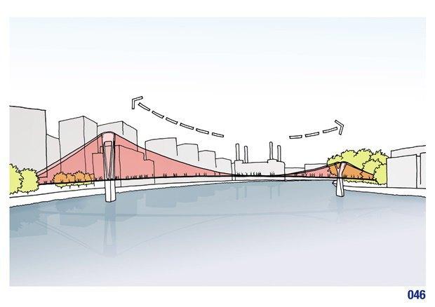 Выложены 74 проекта нового моста через Темзу. Изображение № 49.