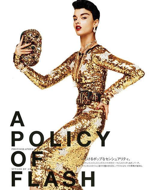 Съёмка: Кристал Ренн в Dolce & Gabbana для Vogue. Изображение № 1.