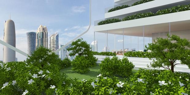 Архитекторы предложили концепт вертикального города на воде. Изображение № 6.