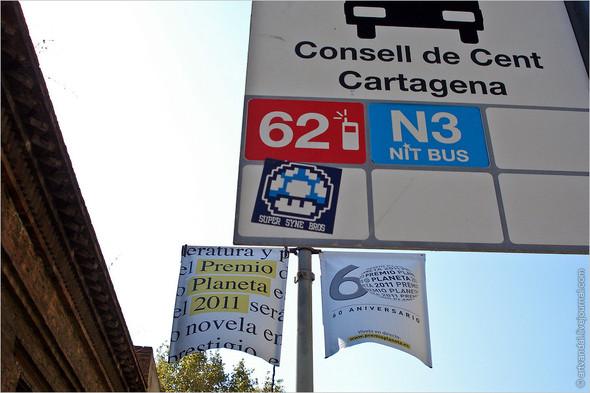 Стрит-арт и граффити Барселоны, Испания. Изображение № 12.