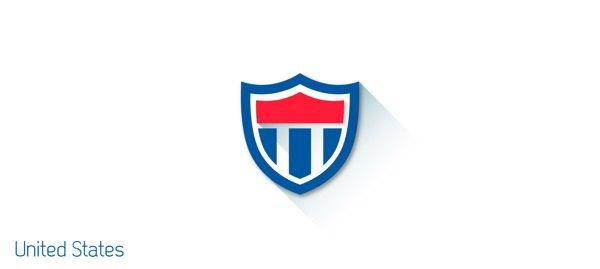 Представлены «плоские» версии гербов национальных сборных . Изображение № 18.