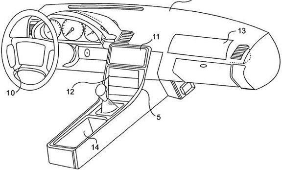 Изобретение Apple изменит вид приборной панели автомобилей. Изображение № 1.