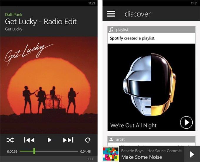 Приложение Spotify для Windows Phone получило первый редизайн с 2011 года . Изображение № 1.