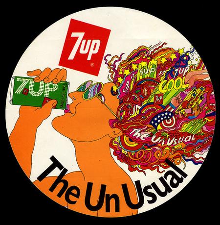 Графика 70-х thegreat hippie 7Up. Изображение № 4.