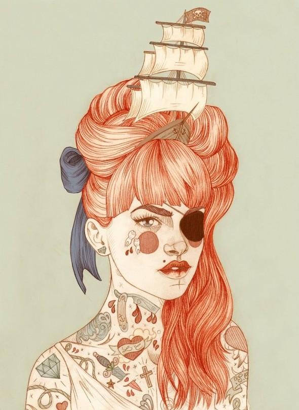 Карандашные рисунки художницы из Лондона Liz Clements.. Изображение № 5.
