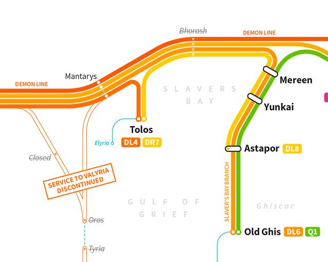 Дизайнер создал схему метро для мира «Игры престолов». Изображение № 7.