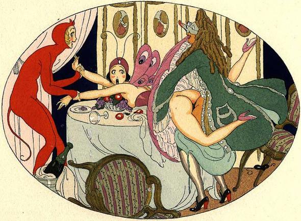 Gerda Wegener, лесбийская эротика в миниатюре. Изображение № 10.
