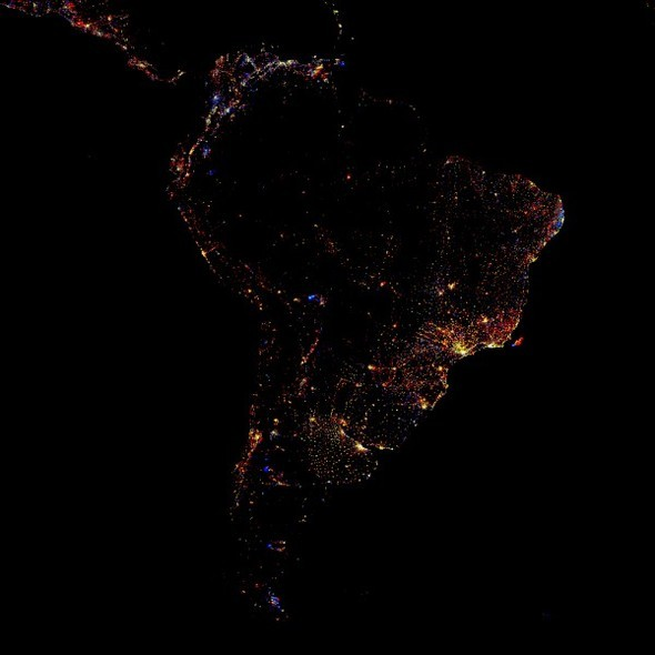 Взгляд из космоса.Nighttime Lights of the World. Изображение № 6.
