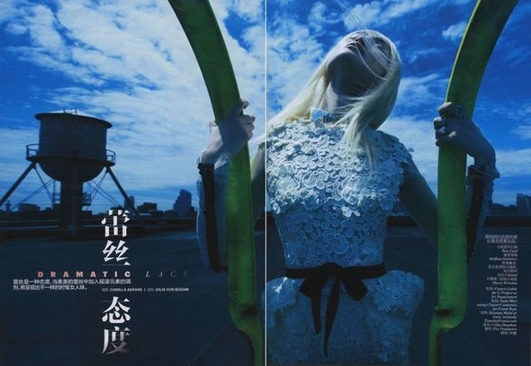 Fashion съемки: Vogue China & Taiwan October 2011. Изображение № 1.