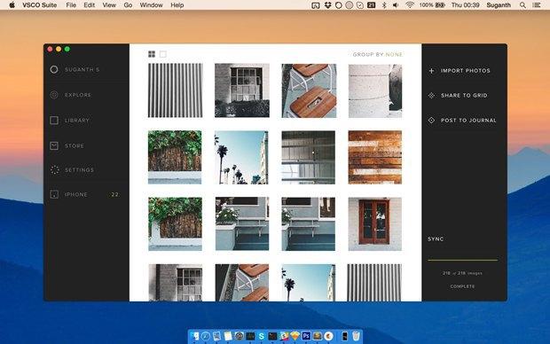 Дизайнер создал концепт приложения VSCO Cam для OS X. Изображение № 4.