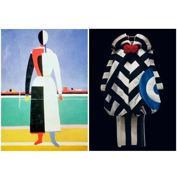 «Женщина с граблями» Каземира Малевича / Diore Couture SS 2002. Изображение № 3.