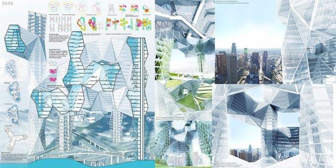 Архитектор предложила идею «объединяющих людей» небоскрёбов. Изображение № 6.