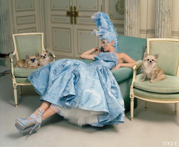 Кейт Мосс в апрельском Vogue US. Изображение № 4.