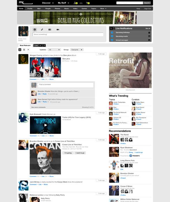 Новый Myspace. Изображение № 5.