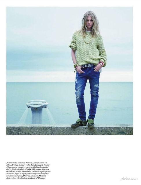 Съёмка: Саша Пивоварова и Наташа Поли для французского Vogue. Изображение № 6.