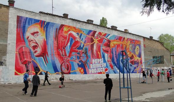 Изображение 6. Граффитчики Pepsi освежили спортплощадку в Одессе.. Изображение № 6.