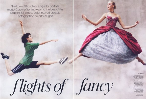 Flights Of Fancy. Vogue US September 2008. Изображение № 1.